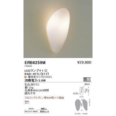 遠藤照明 ブラケットライト〈LEDランプ付〉 ERB6259M