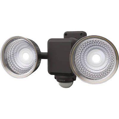ムサシ ムサシ 1.3W×2灯 フリーアーム式LEDソーラーセンサーライト S25L