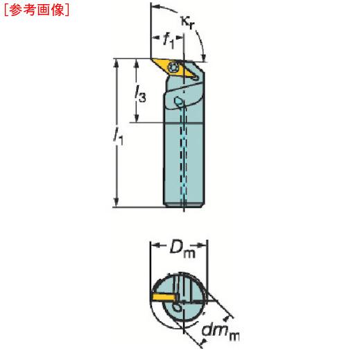 サンドビック サンドビック コロターン107 ポジチップ用ボーリングバイト A16RSVUCL11E