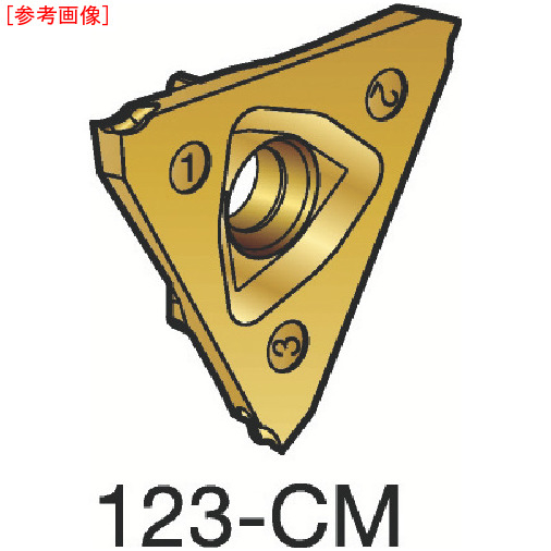サンドビック 【10個セット】サンドビック コロカット3 突切り・溝入れチップ 1125 N123U301000001C