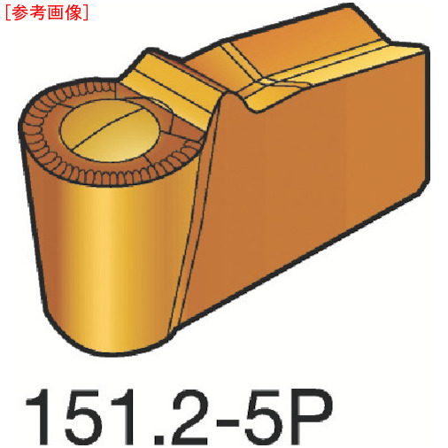 サンドビック 【10個セット】サンドビック T-Max Q-カット 突切り・溝入れチップ 4225 N151.2A250505P