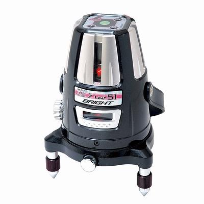 シンワ測定 レーザーロボ Neo 51 BRIGHT 縦・横・大矩・通り芯×2・地墨 77362 77362