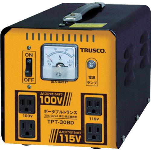 トラスコ中山 TRUSCO ポータブルトランス 30A 3kVA 降圧・昇圧兼用型 TPT30BD