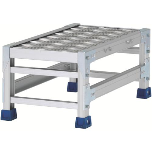 アルインコ アルインコ 作業台(天板縞板タイプ)1段 天板寸法300×600mm高0.25m CSBC123WS