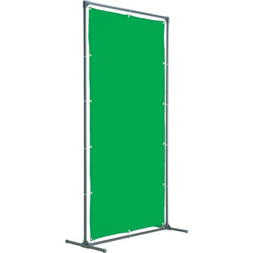 トラスコ中山 TRUSCO 溶接遮光フェンス 2020型単体固定足 緑 YFAKGN