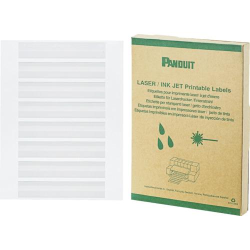パンドウイットコーポレーション パンドウイット レーザープリンタ用回転ラベル 白 (2500本入) R100X075X1J