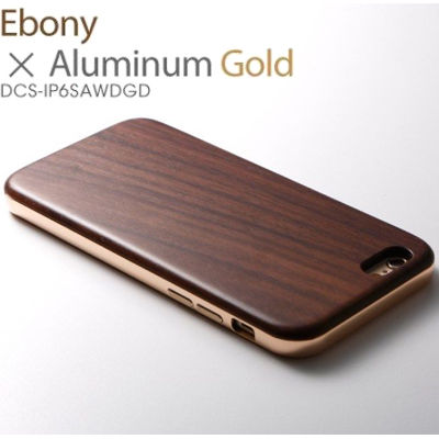 Deff Hybrid Case UNIO for iPhone 6s Ebony + アルミゴールド DCS-IP6SAWDGD【納期目安:1週間】