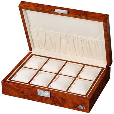 LUHW(ローテンシュラガー) 木製時計8本収納ケース ライトブラウン/濃木目 LU51010RD