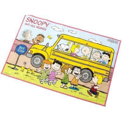 アサヒ興洋 スヌーピー BUS STOP レジャーシート Sサイズ 約60×90cm【100個セット】 4901367043050