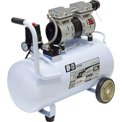 EARTH MAN 静音オイルレスエアーコンプレッサー 39L ACP-39SLA TKG-1405210