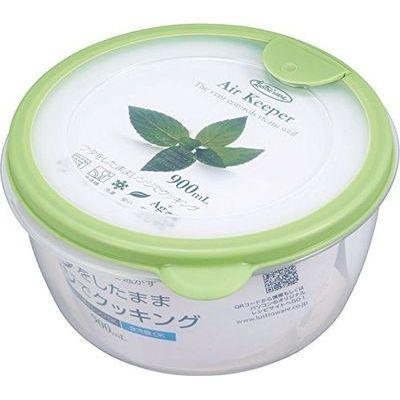 岩崎工業 保存容器 エアキーパー どんぶり グリーン A-038 SG【60個セット】 4901126003837