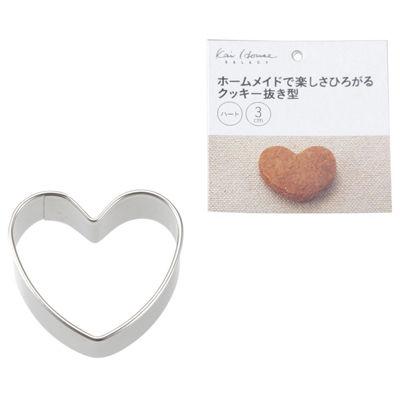 送料無料 貝印 kai House Selectクッキー抜型 4901601299519 ハート DL-6216 男女兼用 限定特価 500個セット 30mm