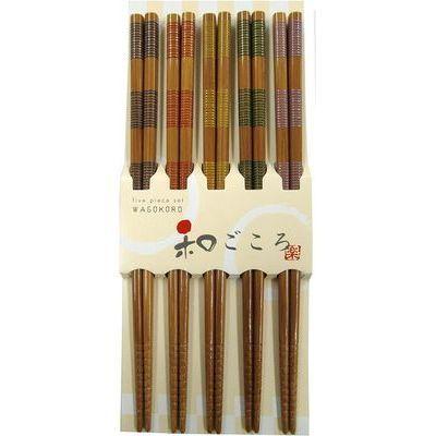 アオバ 箸 来客箸 カラー千段 5膳 4970112518587