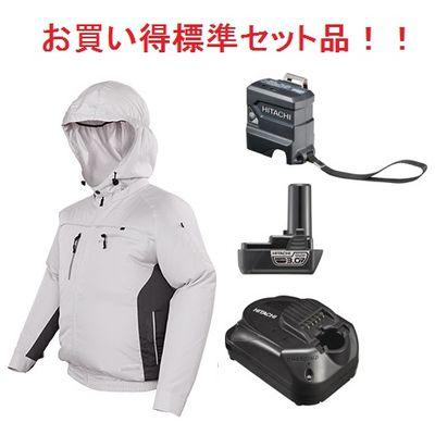 HIKOKI(日立工機) 【充電器+バッテリー+USBアダプター付のフルセット】コードレスクールジャケット(ジャケット+ファンユニット一式)(一般作業、ポリエステル) UF1810DL(P)(S)SET1