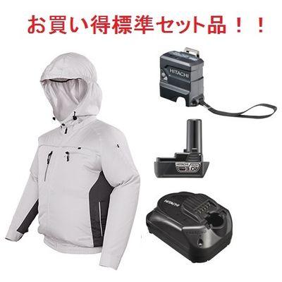 HIKOKI(日立工機) 【充電器+バッテリー+USBアダプター付のフルセット】コードレスクールジャケット(ジャケット+ファンユニット一式)(一般作業、ポリエステル) UF1810DL(P)(M)SET1