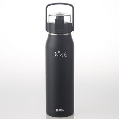 タケヤ化学工業 ステンレスボトル ハンドル&ショルダーベルト付 ME 1000ml ブラック TK506321 4904776506321