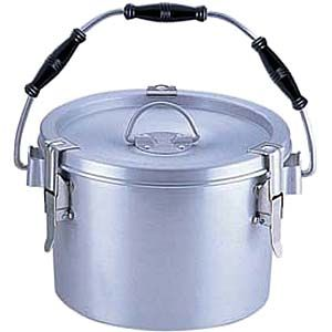 その他 シルバーアルマイト丸型二重クリップ付食缶 ASYA103