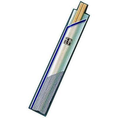 ツボイ 割箸袋入ピース紺白樺元禄20.5((1ケース100膳×40入)) XHS99
