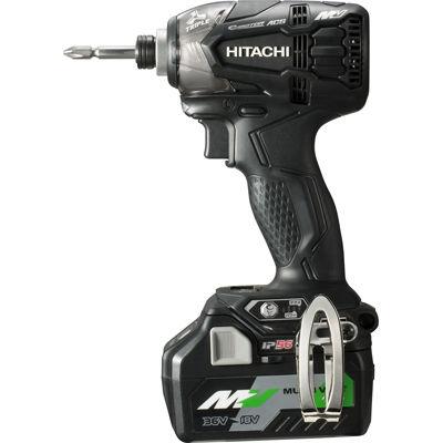 HiKOKI(日立工機) 【36V】【MULTI VOLT(マルチボルトシリーズ)】コードレスインパクトドライバ(マルチボルト蓄電池*2個/急速充電器/ケース付属)(ストロングブラック) WH36DA(2XPB)