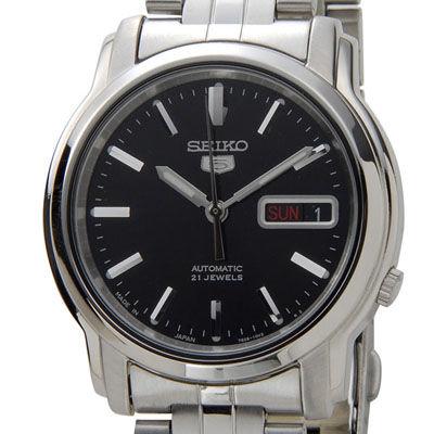 SEIKO セイコー SNKK71J1 セイコーファイブ 自動巻き ブラック×シルバー メンズ 腕時計 SESNKK71J1