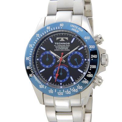 Technos テクノス クロノグラフメンズ腕時計 TSM401SN
