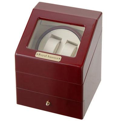 その他 Royal hausen ワインダー 時計収納ケース付きワインダー2本巻3本収納 SR073 RD ワインディングマシーン 腕時計/自動巻き機 SR073RD