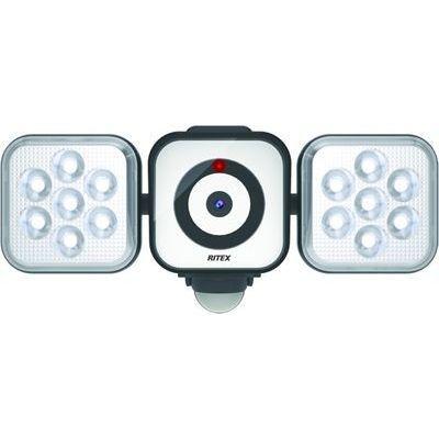 ムサシ RITEX(ムサシ) LEDセンサライトX防犯カメラ 8W×2灯 C-AC8160