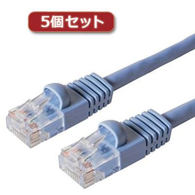 ミヨシ 【5個セット】 カテ6ストレ-トLANケーブル 30m ブルー TWN-630BLX5