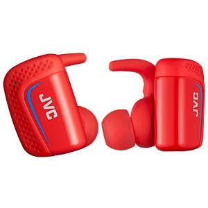 ビクター Bluetooth 搭載スポーツ用ヘッドホン(レッド) HA-ET900BT-R