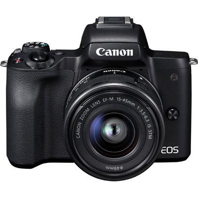 キヤノン ミラーレスカメラ EOS Kiss M ・EF-M15-45 IS STM レンズキット(ブラック) EOSKISSMBK-1545ISSTMLK【納期目安:3週間】