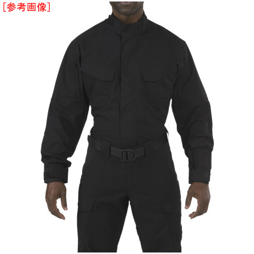 トラスコ中山 5.11 ストライク TDU LSシャツ ブラック L 72416019L