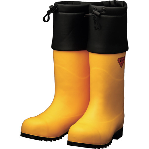 トラスコ中山 SHIBATA 防寒安全長靴 セーフティベアー#1001白熊(イエロー) AC09128.0