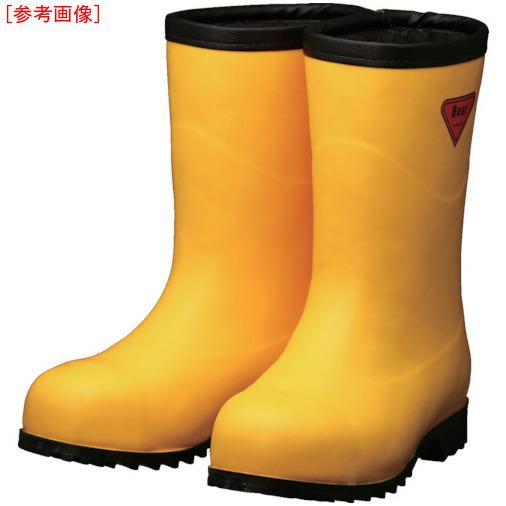 トラスコ中山 SHIBATA 防寒安全長靴セーフティベアー#1011白熊(イエロー)フード無し AC10123.0