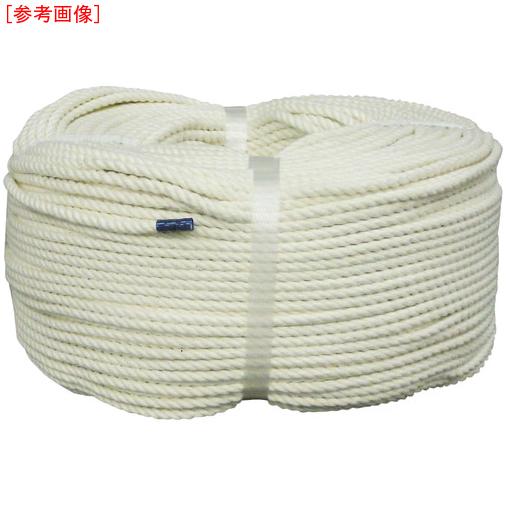 トラスコ中山 ユタカ ロープ 綿ロープ巻物 10φ×200m C10200