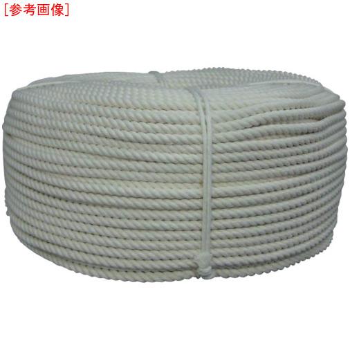 トラスコ中山 ユタカ ロープ 綿ロープ巻物 8φ×200m C8200