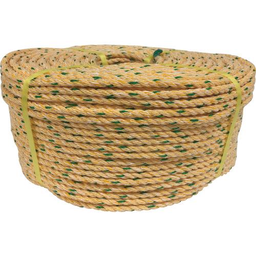 トラスコ中山 ユタカ ロープ KPロープ巻物 10φ×200m K10200