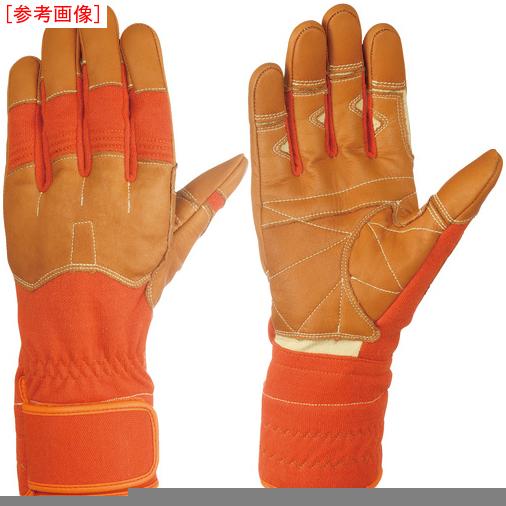 トラスコ中山 シモン 災害活動用保護手袋(アラミド繊維手袋) KG-160オレンジ KG160L