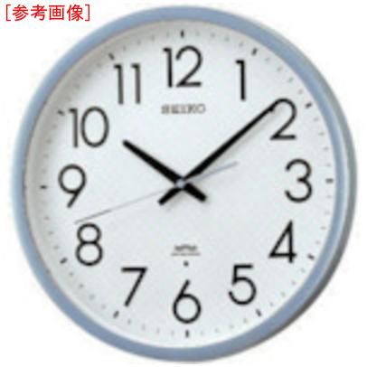 トラスコ中山 SEIKO 電波掛時計 直径390×52 P枠 銀色半光沢 KS265S