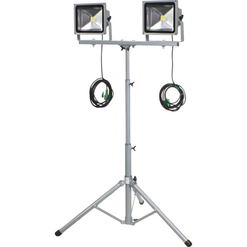 トラスコ中山 日動 LED作業灯 30W 二灯式三脚 LPRS30LW3ME