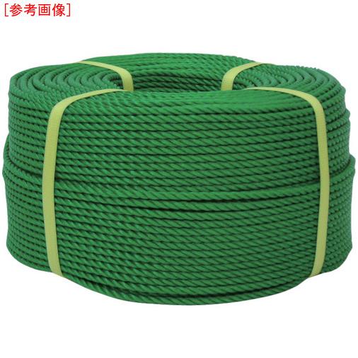 トラスコ中山 ユタカ ロープ PEロープ巻物 9φ×200m グリーン PE53
