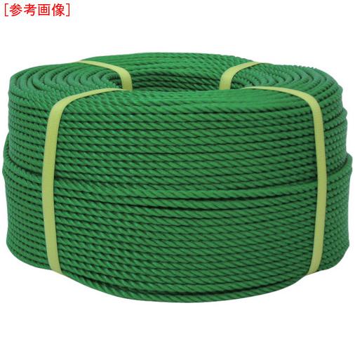 トラスコ中山 ユタカ ロープ PEロープ巻物 12φ×200m グリーン PE63