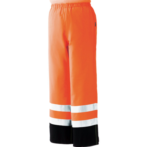 トラスコ中山 ミドリ安全 雨衣 レインベルデN 高視認仕様 下衣 蛍光オレンジ S RAINVERDENSITAORS