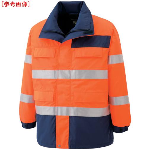 トラスコ中山 ミドリ安全 高視認性 防水帯電防止防寒コート オレンジ 4L SE1125UE4L