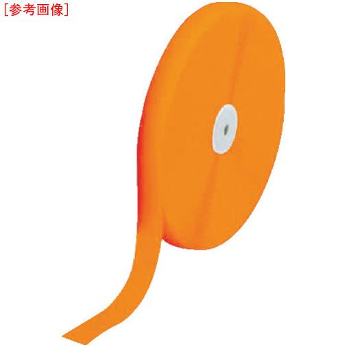 トラスコ中山 TRUSCO マジックテープ 縫製用A側 50mm×25m 蛍光オレンジ TMAH5025LOR