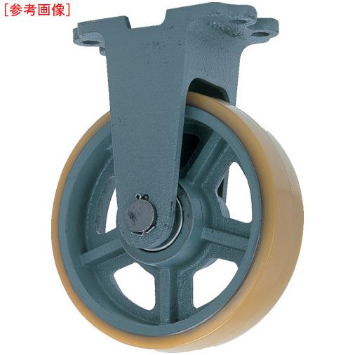 トラスコ中山 ヨドノ 鋳物重荷重用ウレタン車輪固定車付き UHBーk300X100 UHBK300X100
