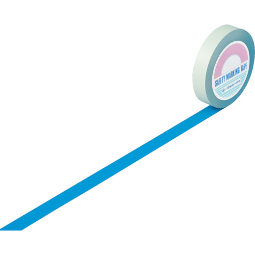 トラスコ中山 緑十字 ガードテープ(ラインテープ) 青 25mm幅×100m 屋内用 1480167047
