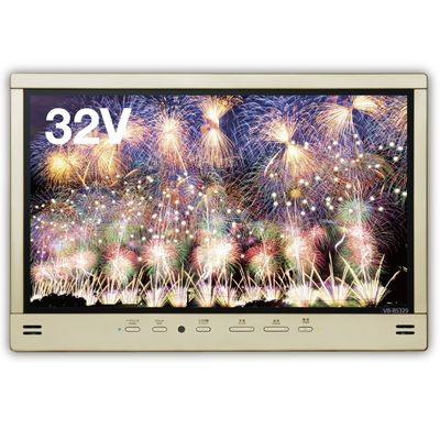 ツインバード 32V型 双方向Bluetooh搭載 3波(地デジ・BS・110°CS)フルハイビジョン・防水 浴室液晶テレビ(シャンパンゴールド) VB-BS329G