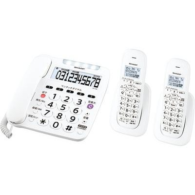 親機1台+子機2台 シャープ デジタルコードレス電話機 JD-V38CW【納期目安:3週間】 ホワイト系