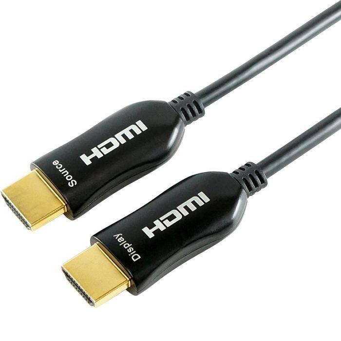 ホーリック 光ファイバー HDMIケーブル 100m 4K/60p(4:4:4) 3D HEC ARC リンク機能 HDH1000-304BK
