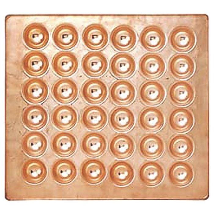 カンダ 銅製たこ焼天板 36穴 05-0292-0502